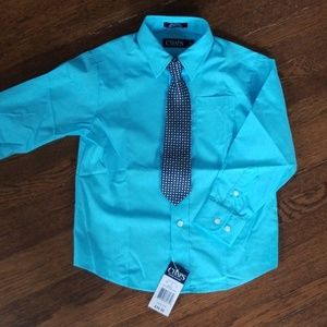 Chaps boy's dress shirt/tie combo Size 5 NEW